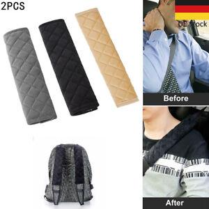 2er Set Gurt-polster Gurtschoner Sicherheitsgurt Autogurt-Polster Gurtschutz DE