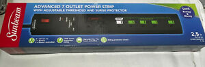 """Sunbeam Advance 7 Outlet Power Strip With Surge Protector """"FAST SHIPPING"""""""