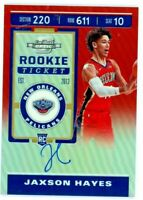 JAXSON HAYES 2019-20 Panini Contenders Optic RED Rookie RC Auto Autograph /149