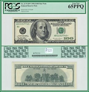 1996 Star $100 New York Federal Reserve Note PCGS 65 PPQ Gem Uncirculated FRN