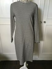 Size 18 M&S Black And White Ribbed Jumper Dress