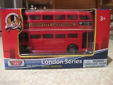 "LONDON DOUBLE DECKER SIGHTSEEING BUS 4.75"" DIECAST MODEL RED WIGAN"