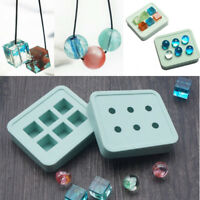 Cube Round Ball Silicone Pendant Resin Mold Making Jewelry Necklace Craft Mould~