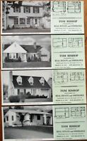 New Brighton, PA 1947 Advertising Blotters - SET OF FOUR w/Home Plan - Insurance