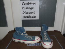 Converse All Stars Hi Top Trainers. Size 4. Blue