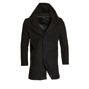 Mens Warm Lightweight Jacket Outwear Winter Duffer Coat With Buttons