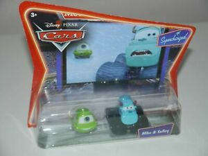 Disney Pixar Cars Supercharged MIKE & SULLEY Car Die Cast 1:55 scale Mattel NEW