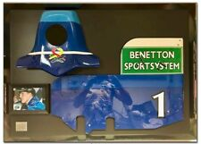 Michael Schumacher rear wing end plate and head rest Framed