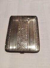 Sterling Silver Cigarette Case Vintage Elgin