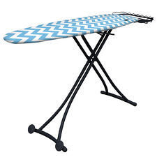SASS Ebony Black Ironing Board w/ Wheels Foldable Adjustable Steel Frame