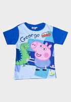 "PEPPA PIG ""GEORGE WITH DINOSAUR"" OR ""SEA THEME"" BOYS/CHILDREN'S T-SHIRT"