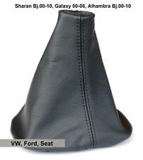 VW Sharan Alhambra Galaxy Schaltsack Schaltmanschette aus Echtes Leder Schwarz