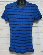 D & G Dolce & Gabbana Women's shirt Cotton/Wool Blend Size 40 Blue Striped