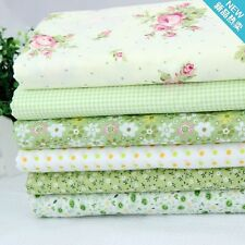 6 PCS 48CM*48CM green cotton cloth patchwork fabric sewing tecido tissue zakka