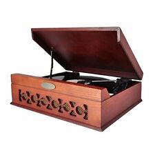 Sound Around Pyle Retro Vintage Classic Style Bluetooth Turntable Record Player,