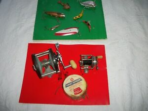 fishing reels lures vintage used items most are good as seen