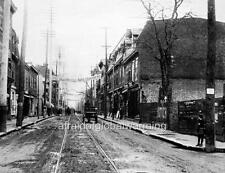 "Photo 1903 Montreal, Canada ""Tram Lines on Notre-Dame Street"""