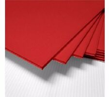 """LOT 5 RED Corrugated Plastic 18"""" x 24"""" 4mm Coroplast signs blank Craft Project"""
