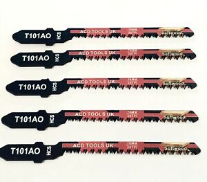 5 x T101AO Jigsaw Blades for Metal to fit Bosch, DeWalt, Makita