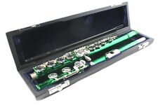 FLUTE - GREEN  Color - SILVER PLATED Keys - CLEARANCE SALE