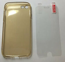 30 x Iphone 7 Gold Gel Case With Free Screen Protectors Wholesale Joblot