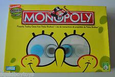 MONOPOLY Spongebob Squarepants BOARD GAME Parker Brothers 2005