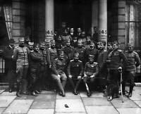 Old Photo 1916 A Group Of Serbian Soldiers Outside The Cromwell Court