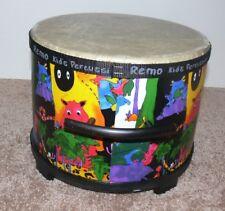 "Remo Kid's Percussion Fiberskyn 3 Drum 10"" Rainforest Design mc"