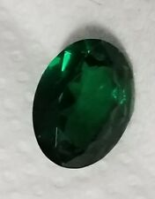 2.5 ct Oval Emerald New Vintage Genuine Corundum Swiss Made 8 Hardness 9 x 7 mm