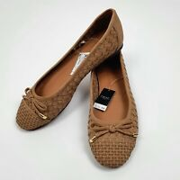 NEXT Tan Brown Flat Dolly Shoes Size UK 5 EU 38 Lattice Design Forever Comfort