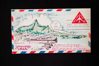 US Hand Painted Stamped and Signed Lockheed Cover