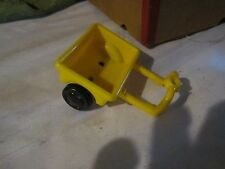 Fisher Price Little People wagon cart yellow tractor manger nativity barn farm