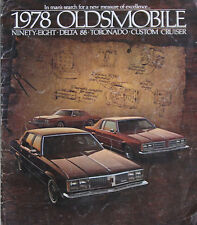 Oldsmobile 1978 folleto estados unidos brochure ninety eight delta 88 Toronado Custom turismos