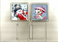 10 blank diy cross stitch coasters  80mm x 80 mm insert size