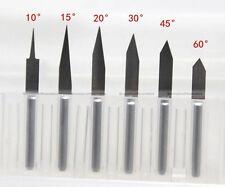 10 pcs 60° Degree 0.1mm Carbide PCB Engraving Bit CNC Router Tool Tip BIT011