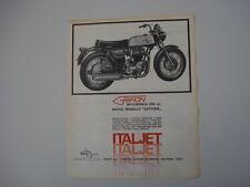 advertising Pubblicità 1969 MOTO ITALJET GRIFON 650 DAYTONA