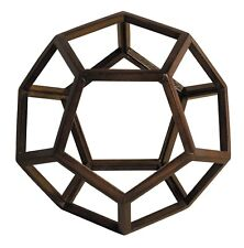 Dodecahedron 3D Geometric Ether - Aether Wooden Model By Authentic Models New