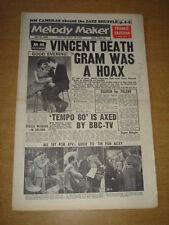 MELODY MAKER 1960 JUNE 25 GENE VINCENT FRANKIE VAUGHAN SHIRLEY BASSEY TEMPO 60 +