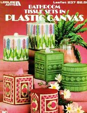 Leisure Arts 237 Bathroom Sets in Plastic Canvas Tissue Roll & Boutique Covers
