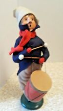 Vintage Byers Choice Little Drummer Boy Dated 1986 Boy With Drum