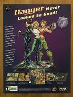 Danger Girl Playstation 1 PS1 J. Scott Campbell 2000 Vintage Game Poster Ad Art