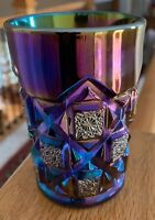 "Westmoreland Glass OLD QUILT CHECKERBOARD Carnival Glass 3 7/8"" Tumbler(s)"