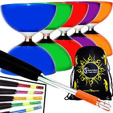 Carousel Rodamientos Diabolo + Colorido Metal Palos, diablo Cuerda & Bolsa