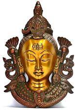 Golden face Brass Shiva Wall Hanging Mask Hindu God Figurine Home Decor