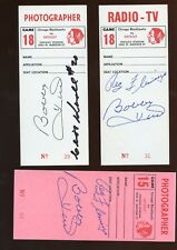 Bobby Hull Autographed Chicago Black Hawk Tickets 5 Different JSA Certs