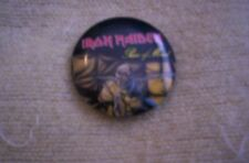 Iron Maiden Piece Of Mind official 1983 Tour Button pin Rare Nm Scorpions Ratt