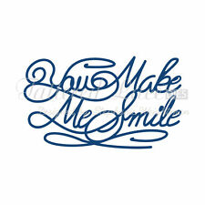 TATTERED LACE CUTTING DIES - YOU MAKE ME SMILE D435 (NEW)