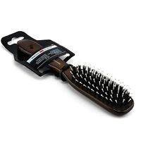 Hercules German Bristles & Pins Hair Brush Medium Mens Styler Wooden Handle