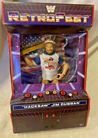 WWE Hacksaw Jim Duggan Elite Retrofest Gamestop Figure 100% new sealed Mattel