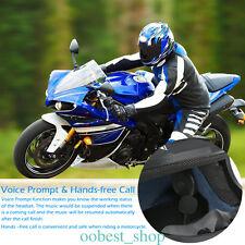 BT Bluetooth For Motorcycle Helmet Interphone Intercom Headset Riders Wireless F
